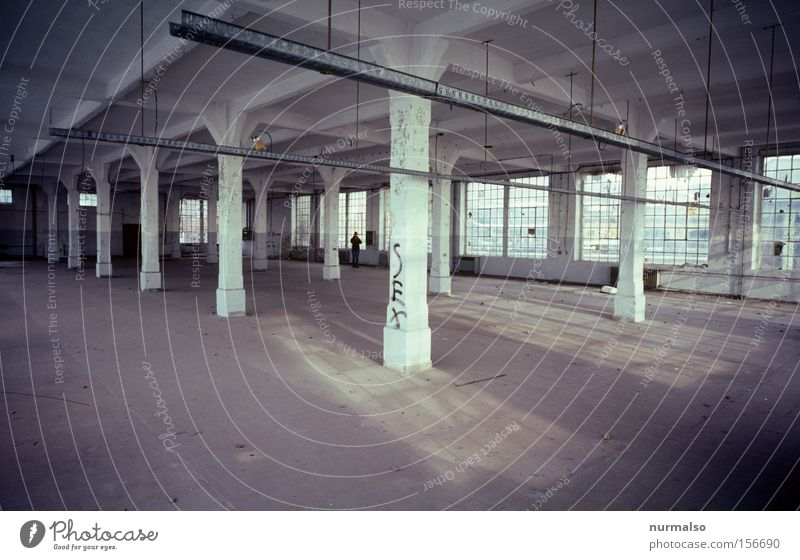 Loneliness Empty Industry Factory Leisure and hobbies Anger Derelict GDR Aggravation Dismantling Factory hall Socialism Loft Saxony-Anhalt Collapsible boat