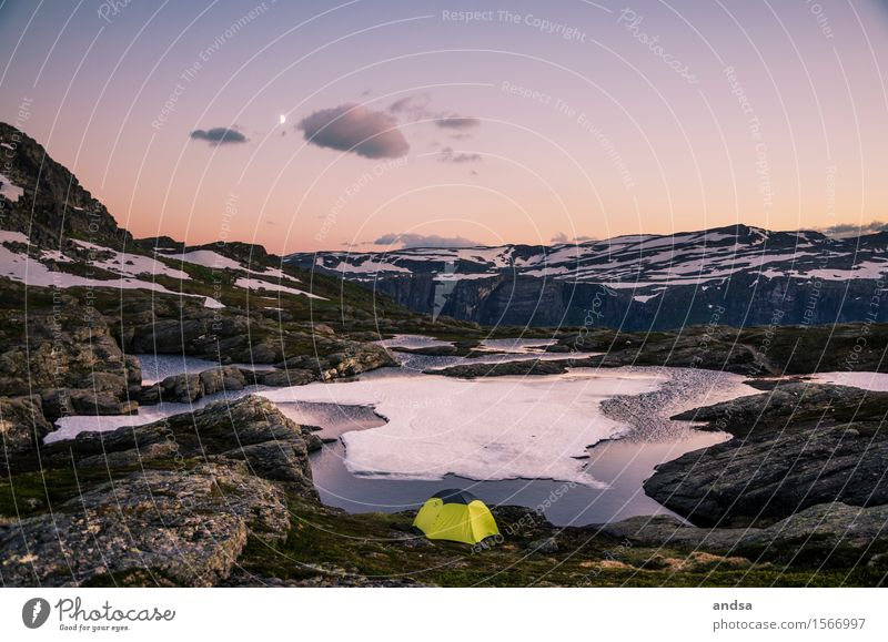 Camping in Norway Vacation & Travel Trip Adventure Far-off places Freedom Expedition Summer vacation Winter Snow Winter vacation Mountain Hiking Landscape Sky
