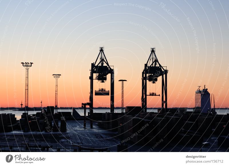 Bremen Watercraft Logistics Harbour Economy Trade Crane Goods Economic crisis Bremerhaven Container ship Container terminal