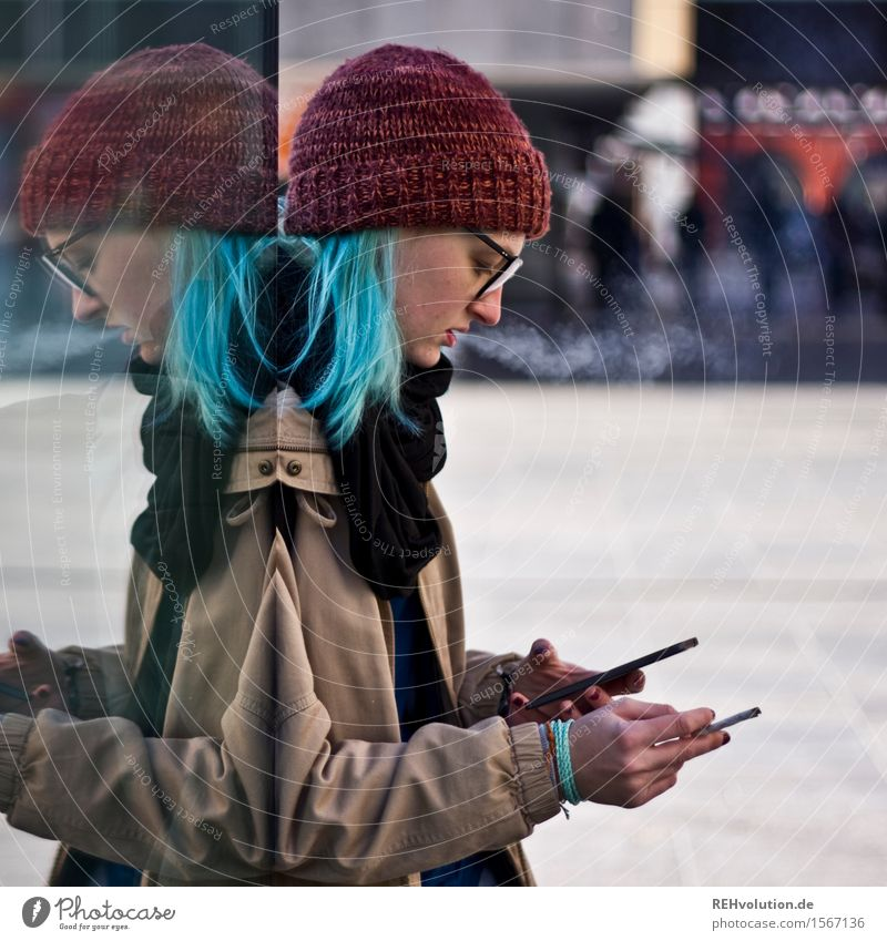"""Can you trace my cell phone?"" Human being Feminine Young woman Youth (Young adults) 1 13 - 18 years 18 - 30 years Adults Smoking Stand Exceptional Cool (slang)"