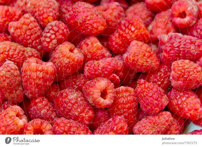 Background fresh red raspberry Red Food Fresh Berries Vegetarian diet Raw Organic Raspberry