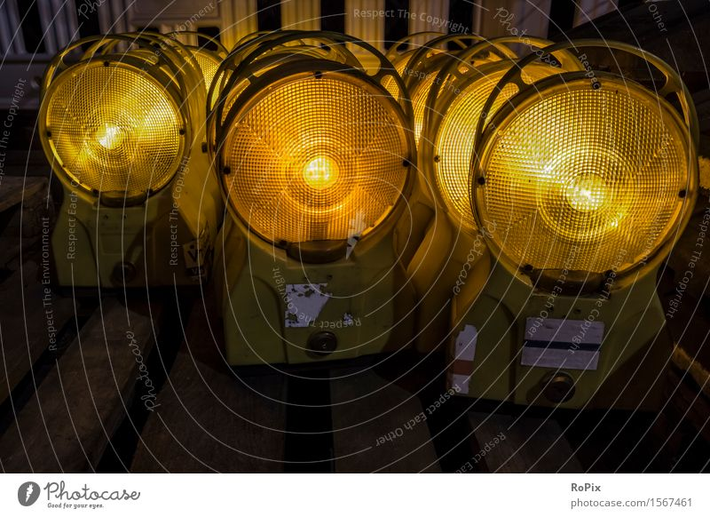 warning lights Work and employment Profession Craftsperson Workplace Construction site Economy Industry Craft (trade) Energy industry Business Company