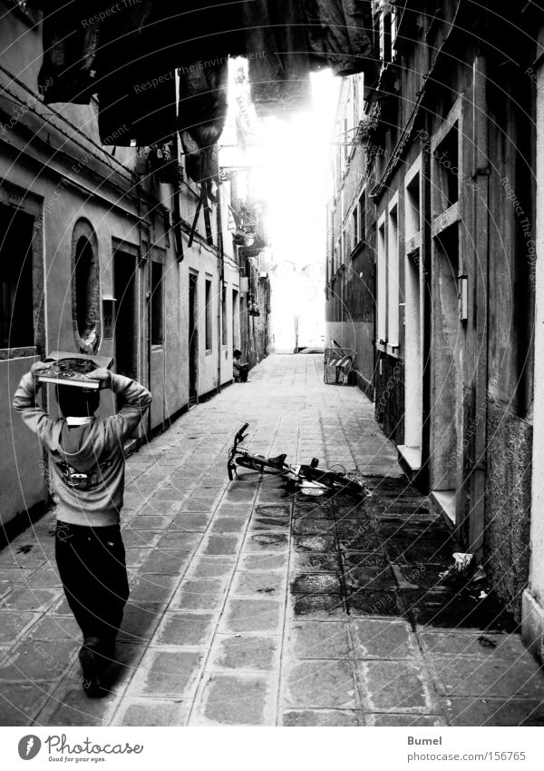 Child Water Street Boy (child) Walking Book Italy Laundry Alley Venice Light