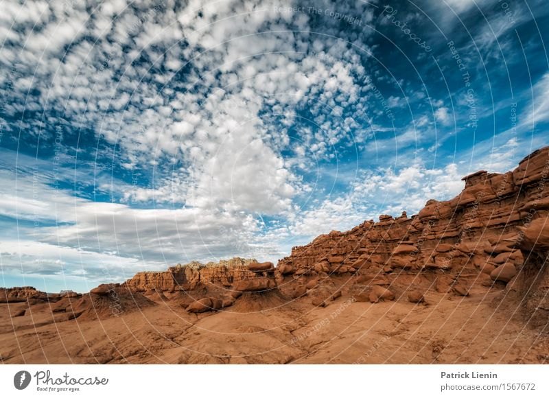 Utah Landscape Harmonious Well-being Contentment Senses Vacation & Travel Adventure Freedom Expedition Summer Mountain Environment Nature Elements Earth Sky