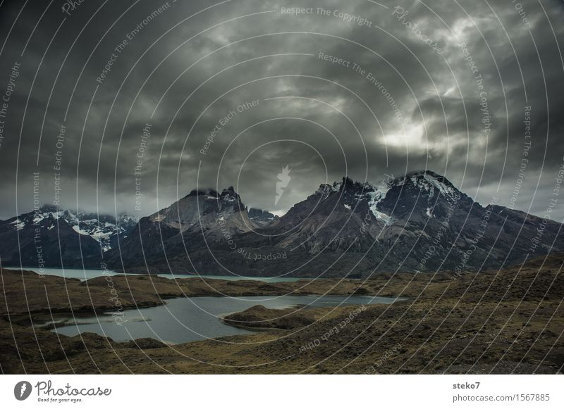 clouds dark mountain lake a royalty free stock photo