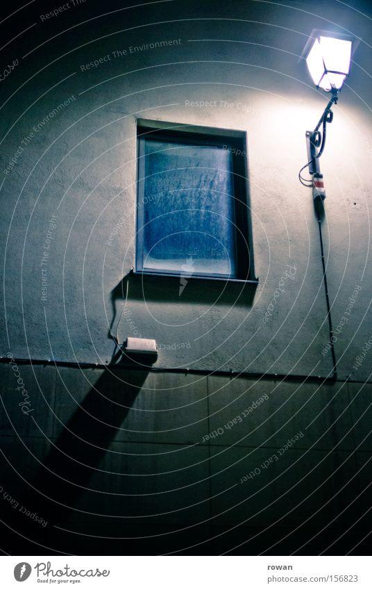 Loneliness Lamp Dark Window Facade Empty Creepy Lantern Dim