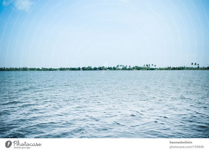 Sky Blue Vacation & Travel Ocean Beach Skyline Palm tree India Kerala
