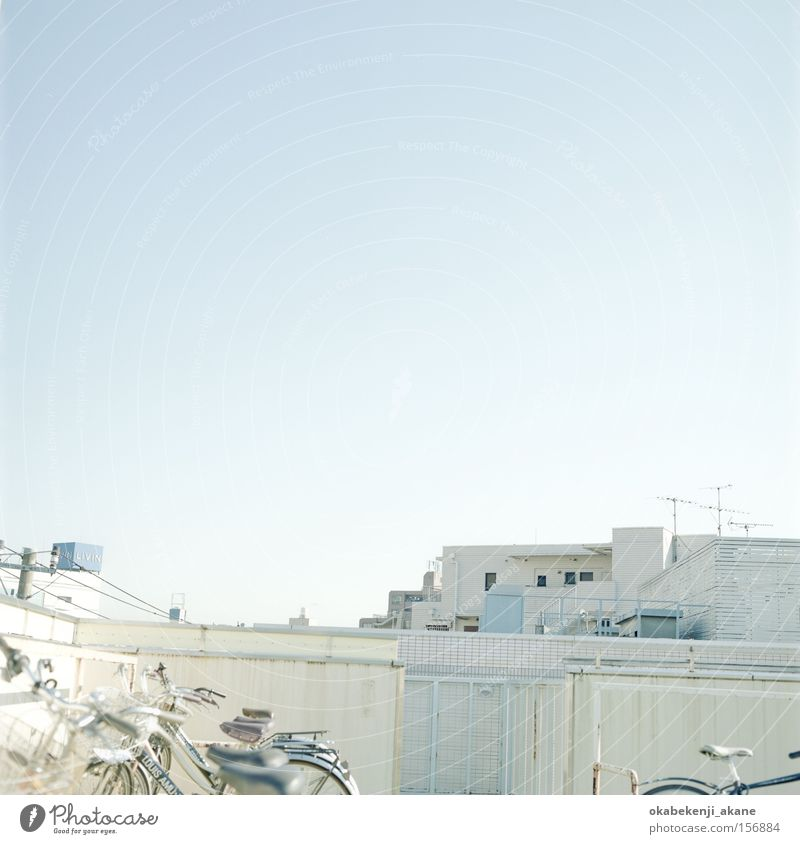 rooftop journey Sky White Blue Air Square Japan Tokyo Ambience