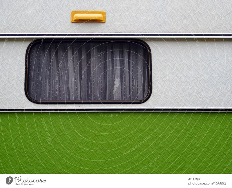 White Green Summer Vacation & Travel Window Design Transport Lifestyle Leisure and hobbies Living or residing Camping Drape Curtain Live Summer vacation Caravan