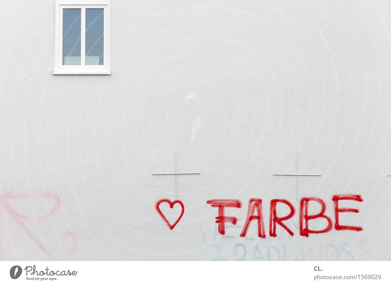 i like color House building House (Residential Structure) Building Architecture Wall (barrier) Wall (building) Window Sign Characters Graffiti Heart Exceptional
