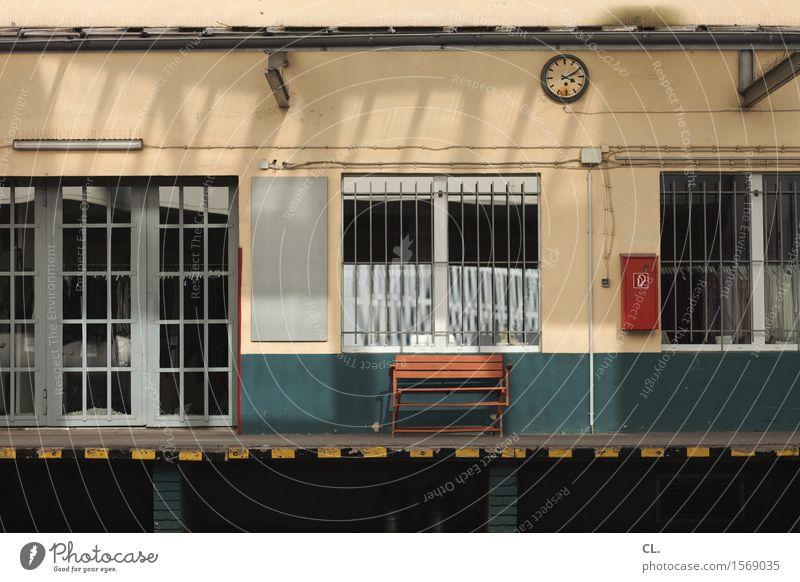 Window Wall (building) Wall (barrier) Time Clock Door Break Bench Grating Stagnating