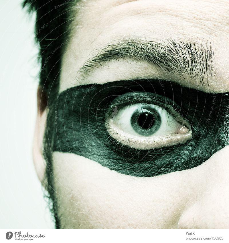 Man Face Eyes Hair and hairstyles Eyeglasses Mask Criminal Hero Thief Eyelash Eyebrow Camouflage Pupil Iris