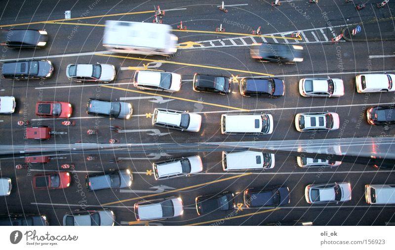 Street Car Environmental pollution Transport Motor vehicle Logistics Construction site Reflection Uniqueness Exhaust gas Education Crossroads Traffic jam