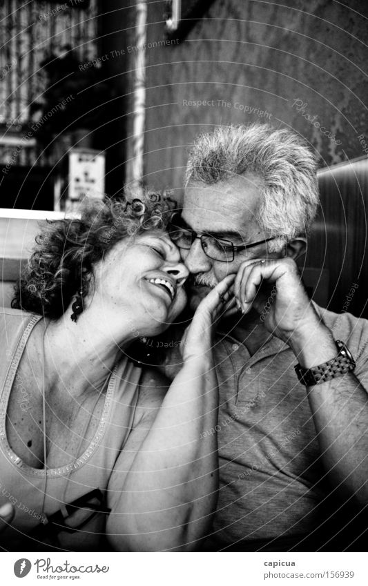 Love Joy Senior citizen Emotions Human being Couple Happiness Smiling Life Middle age