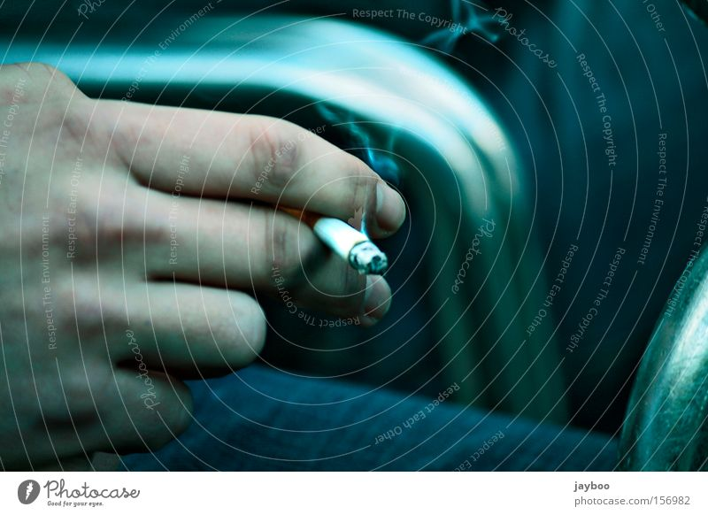Man Hand Dangerous To hold on Smoking Tobacco products Smoke Burn Cigarette Odor Unhealthy Normal Ashes Dependence Nicotine Retentive