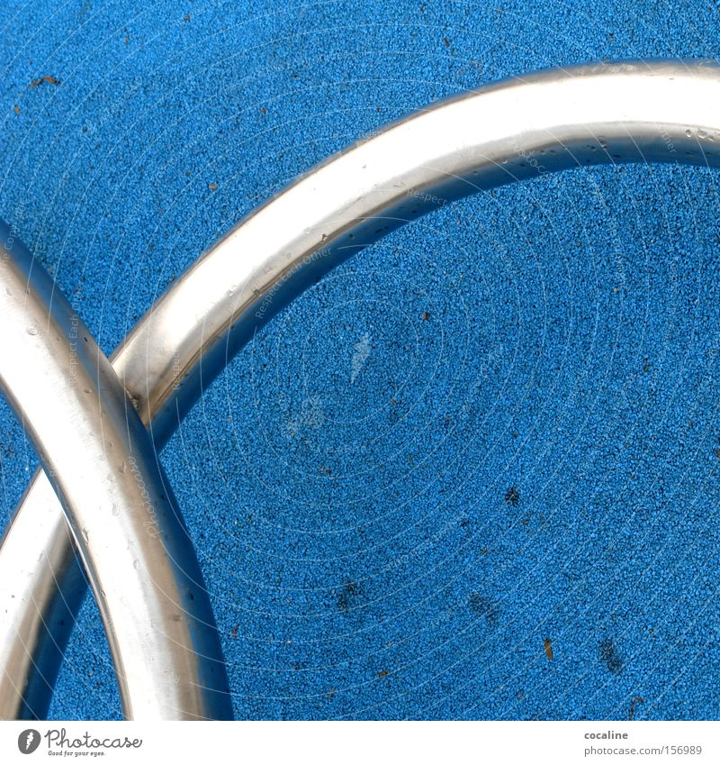 Blue Metal Art Glittering Floor covering Things Obscure Silver Flexible Intimacy Knot Arch Connectedness Iconic Curved