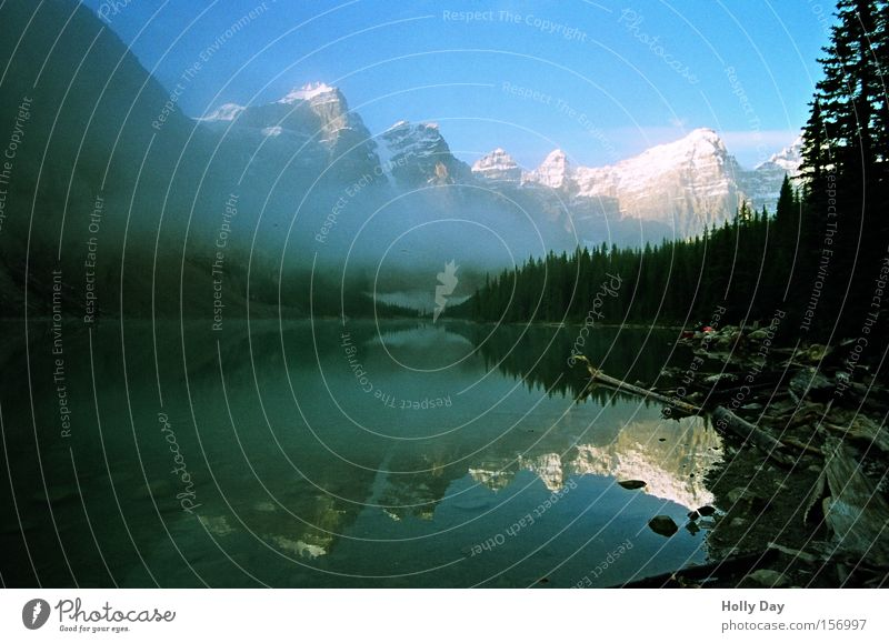 Last... Mountain Lake Water Surface Smoothness Mirror Calm Peace Snow Peak Alberta Banff National Park Morning Canada Peaceful Clarity Rocky Mountains