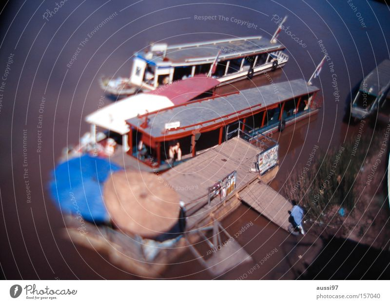 Water Watercraft Dirty Asia Sunshade Navigation Ferry Houseboat Brackish water