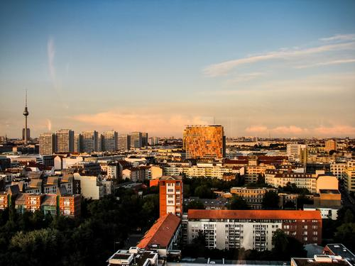 Berlin skyline Vacation & Travel Tourism Trip Far-off places Freedom Sightseeing City trip Capital city House (Residential Structure) Tower Manmade structures