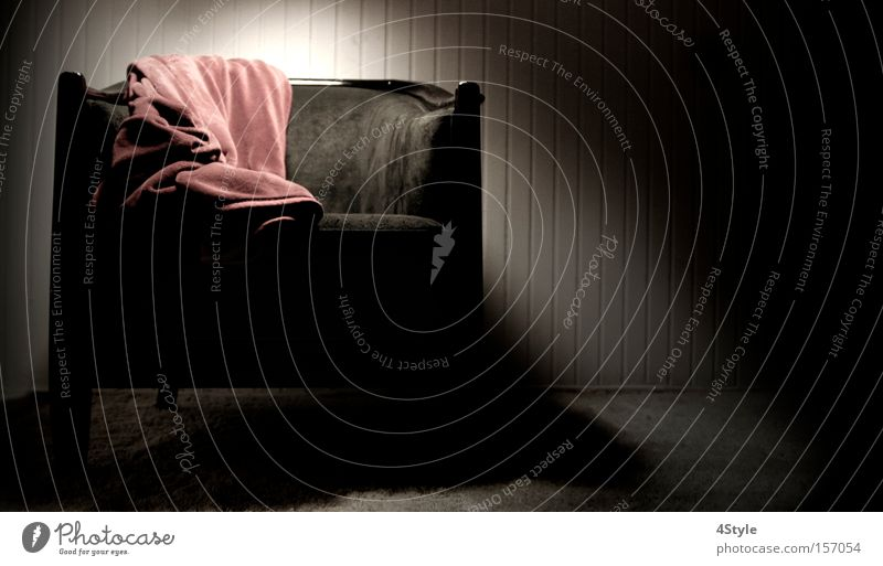 Lighted Chair Armchair Shadow Loneliness Dark Furniture Blanket
