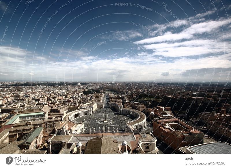 This will all be yours one day... Vacation & Travel Tourism Sightseeing City trip Sky Clouds Beautiful weather Rome Vatican Italy Town Capital city Downtown