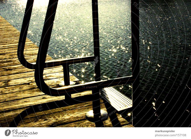 Water Vacation & Travel Summer Jump Lake Swimming pool Dive Deep Springboard Ladder Open-air swimming pool Pool ladder
