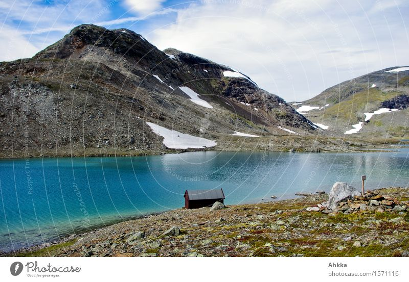 house on the lake Landscape Water Snow Rock Mountain Lakeside Hut Dream Blue Caution Calm Purity Modest Adventure Loneliness Relaxation Peace Inspiration