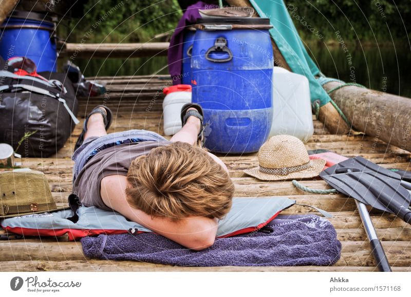 lengthen Relaxation Calm Vacation & Travel Trip Adventure Expedition Summer vacation Human being Boy (child) Infancy Life 1 To enjoy Hang Sleep Dream Serene
