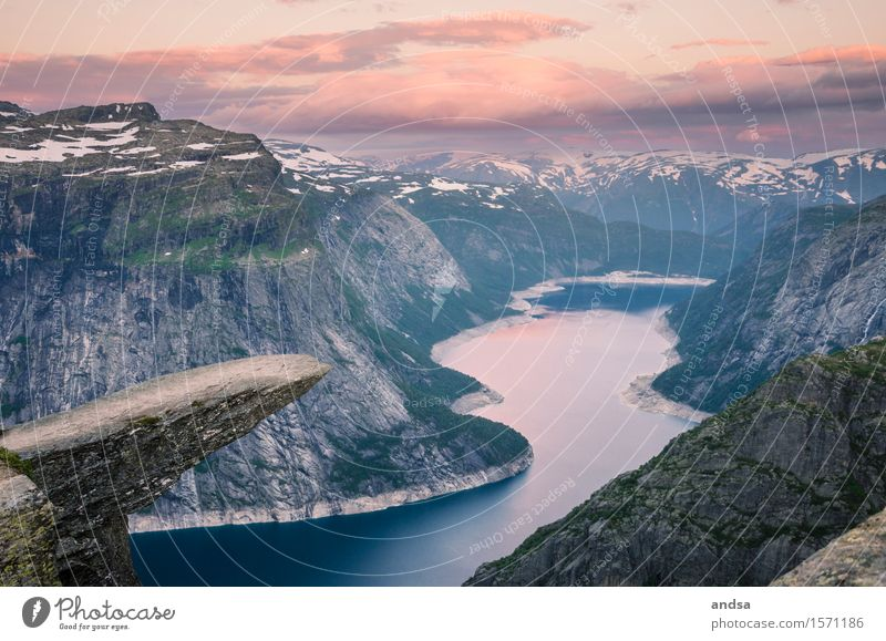 Trolltunga, Norway Vacation & Travel Trip Adventure Far-off places Freedom Sightseeing Expedition Camping Summer Winter Snow Mountain Hiking Landscape Clouds