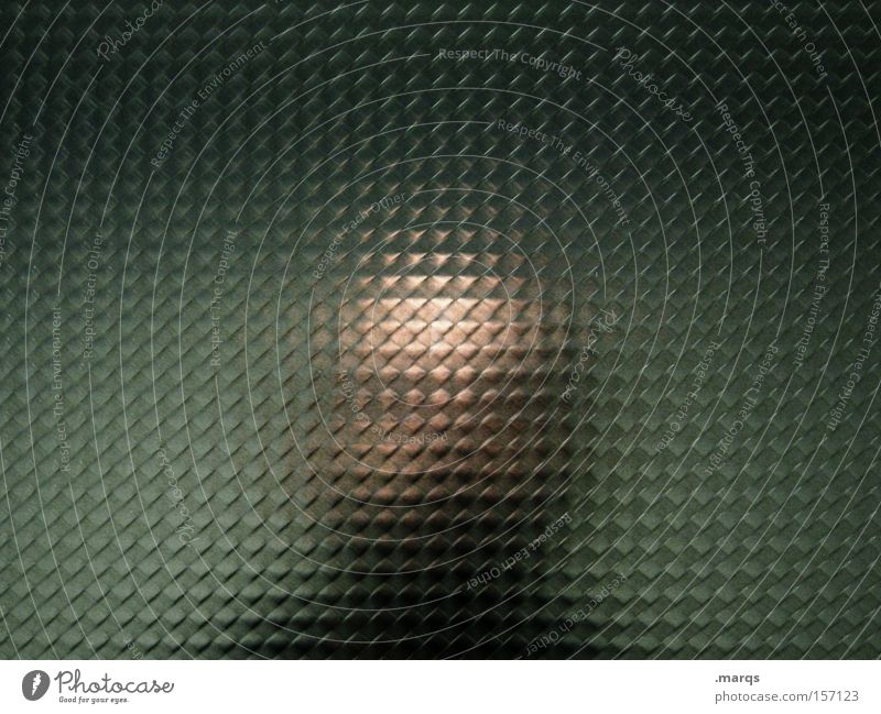 unknown Colour photo Subdued colour Interior shot Abstract Reflection Long shot Looking Lifestyle Mirror Human being Man Adults Head 1 Bald or shaved head