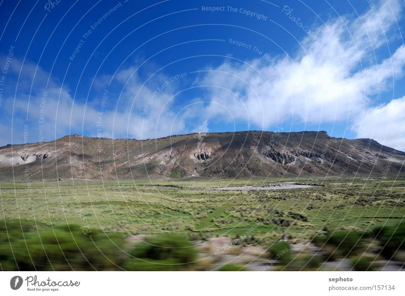 Bolivian Andes Mountain Sky Clouds Blur Contrast Movement Desert High plain Chile Highlands South America Summer Landscape Motion blur Veil of cloud Deserted
