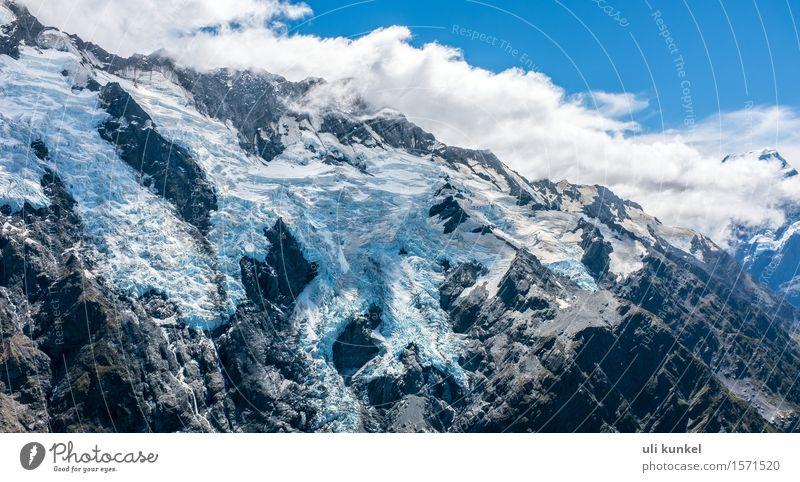 Mount Sefton Glacier Vacation & Travel Tourism Trip Adventure Far-off places Freedom Summer Snow Mountain Hiking Climbing Mountaineering Nature Landscape Sky