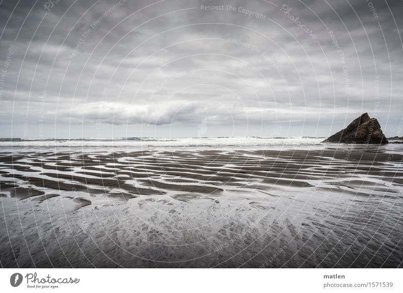 There is no such thing as bad weather Nature Landscape Sand Air Water Sky Clouds Horizon Weather Bad weather Wind Rock Waves Coast Beach Ocean Deserted Dark
