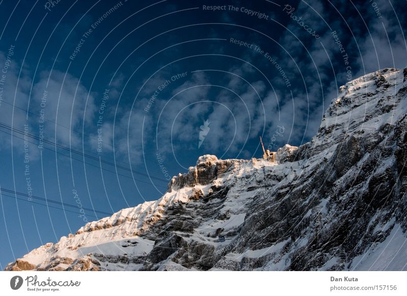 ascent Mount Säntis Mountain Switzerland Climbing Mountaineering Cold Frost To enjoy Calm Peace Clarity Contentment Winter Snow Ice