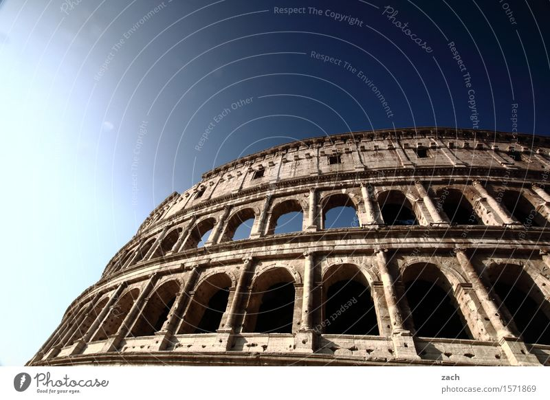 arcade Vacation & Travel Tourism Sightseeing City trip Cloudless sky Beautiful weather Rome Italy Town Capital city Downtown Old town Ruin Places