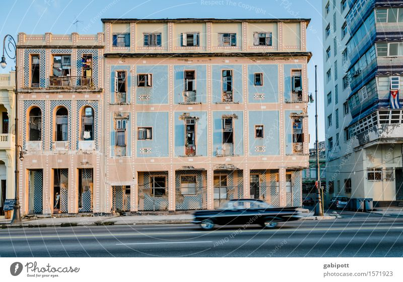 Havana, Malecón Vacation & Travel Tourism Trip Adventure Far-off places Freedom Summer Summer vacation Cuba Downtown House (Residential Structure) Building