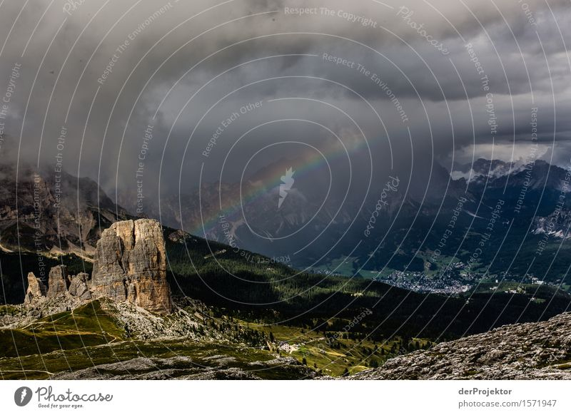 Storms in the Dolomites with rainbow Vacation & Travel Tourism Trip Adventure Far-off places Freedom Mountain Hiking Environment Nature Landscape Plant Animal