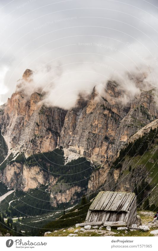 Refuge in the Dolomites in the clouds Vacation & Travel Tourism Trip Adventure Far-off places Freedom Camping Mountain Hiking Environment Nature Landscape Plant