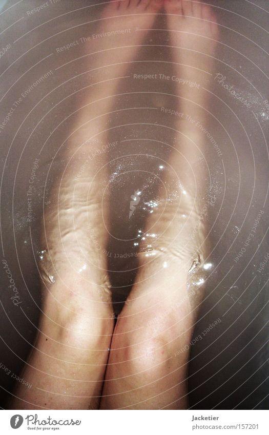 Underwater. Legs Water Knee Bathtub Bathroom Water reflection Reflection Waves