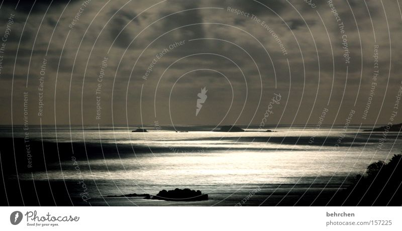 Sky Ocean Vacation & Travel Clouds Dream Vantage point Moon To enjoy Light Night Illuminate Wanderlust Celestial bodies and the universe Africa Honeymoon