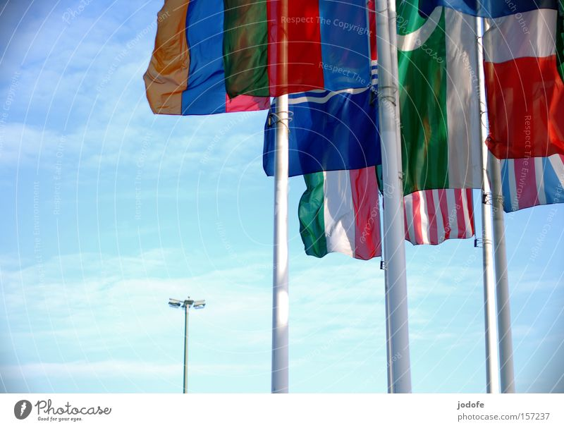 Sky Clouds Earth Aviation Africa Flag Peace Countries Lantern Americas Society Planet Flagpole International