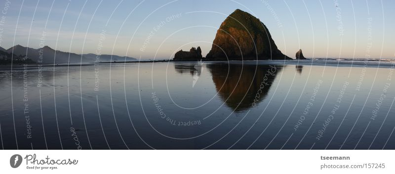 Wide Wet Beach Ocean Lake Water Pacific Ocean Reflection Rock Coast USA pacific haystack Reflection & Reflection