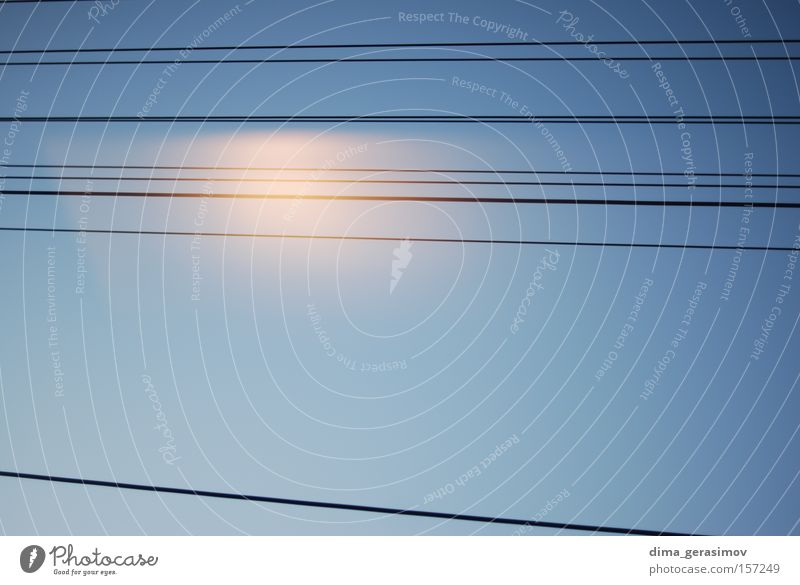 Lines 2 Line (row of words) Direct Blue Summer Sky Parallel Railroad Communicate Colour Transport straight line upright erect train Vacation & Travel