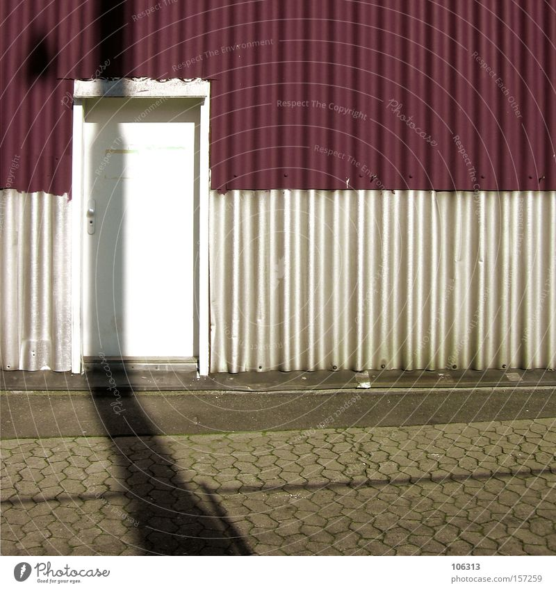 Photo number 107122 Door Shadow White Red Burgundy Frame Architecture Loneliness Indifference Graphic Level Plain Superimposed Exceptional Characteristic Art