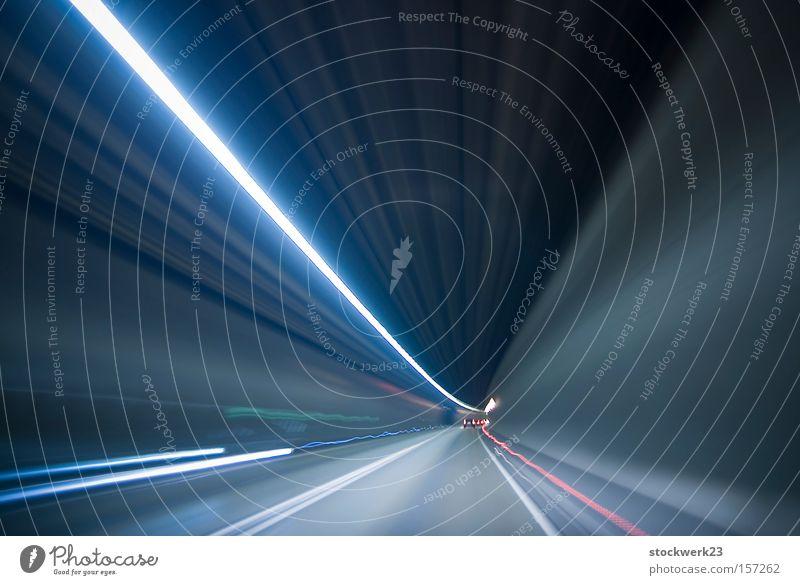 Car Speed Motor vehicle Light Tunnel Vehicle Long exposure Car lights Underground Rear light Speed of light