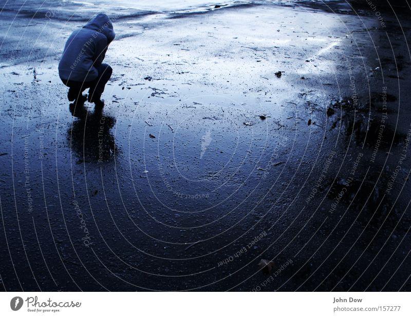 Blue Loneliness Dark Cold Sadness Rain Fear Wet Drops of water Grief Asphalt Anger Storm Freeze Distress Concern