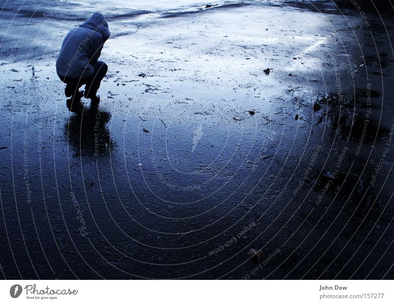 Blue Loneliness Dark Cold Sadness Rain Fear Wet Drops of water Grief Asphalt Anger Storm Freeze Distress Concern