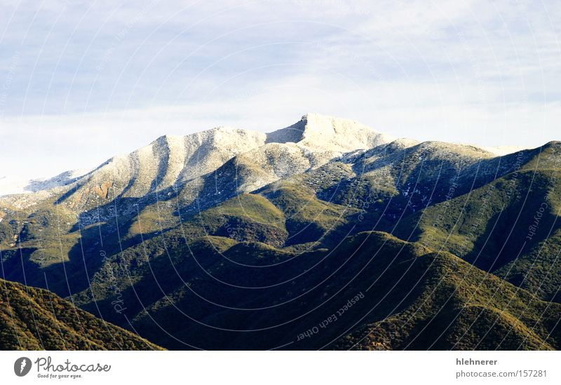 Ojai Valley With Snow Nature Sky White Winter Cold Mountain Landscape Ice Rock Tourism Travel photography California