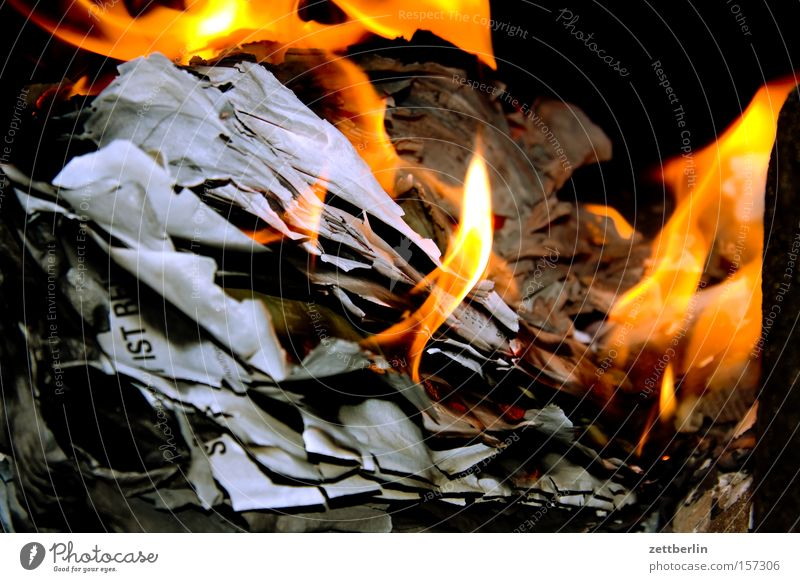Warmth Fear Blaze Fire Paper Transience Burn Flame Destruction Heating Panic Ashes Pentecost