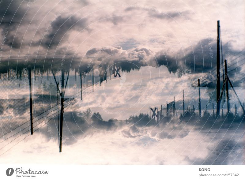 Sky Clouds Dream Air Moody Weather Horizon Romance Climate Surrealism Double exposure Climate change Atmosphere